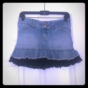 YMI Denim Lace Skirt